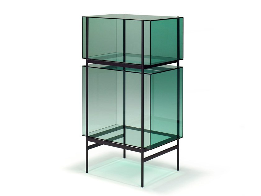 Glass and steel display cabinet LYN SMALL by pulpo