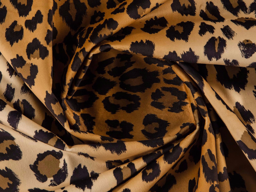 Animalier washable printed polyester fabric LYNX by More Fabrics