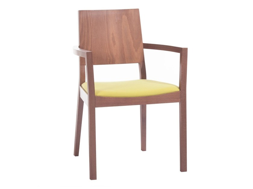 Wooden chair with armrests LYON 514 | Chair with armrests by TON