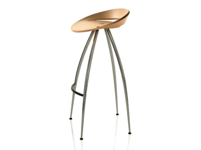 High multi-layer wood stool LYRA by Magis