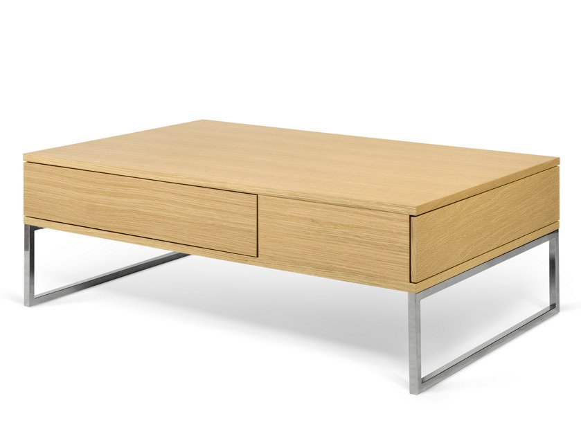 Rectangular coffee table with storage space LYRA by TemaHome
