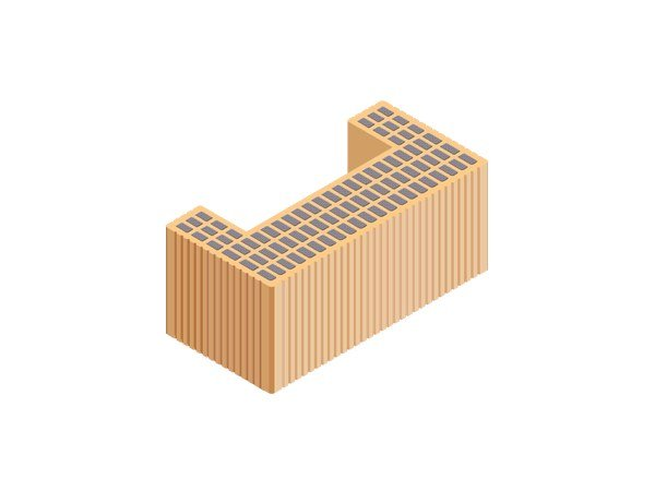 Thermal insulating clay block M.A. 2.0 45X22X19 by T2D