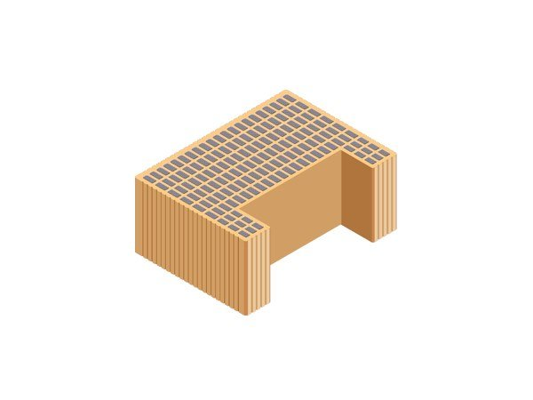 Thermal insulating clay block M.A. 2.0  45X33X19 by T2D