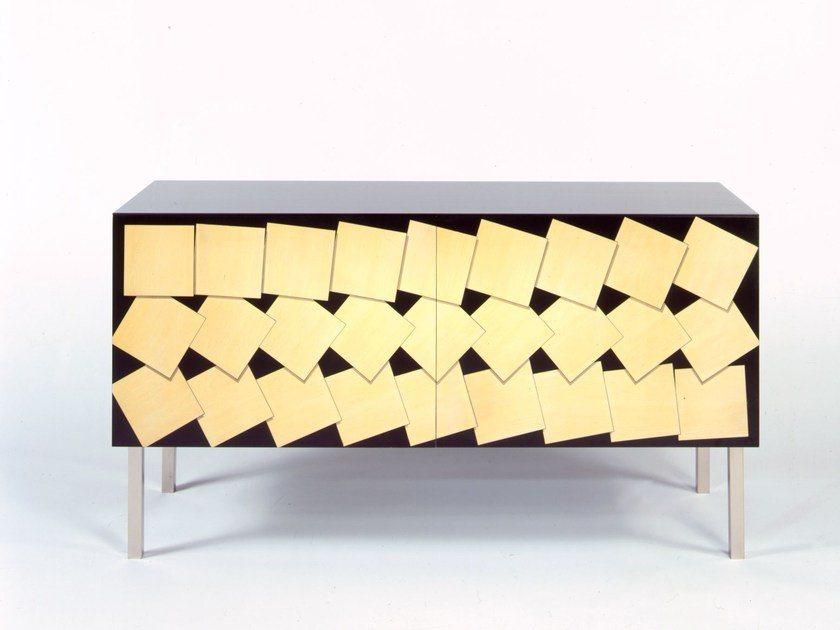 Lacquered Sideboard With Doors M M 2 Intarsia Uno Collection By