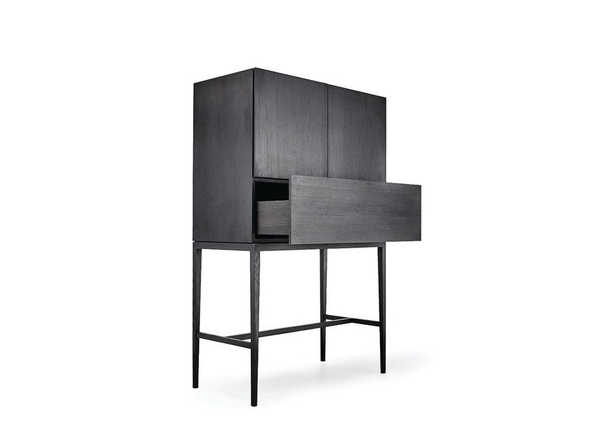 Wooden highboard with doors M1108 | Highboard by MINT FACTORY