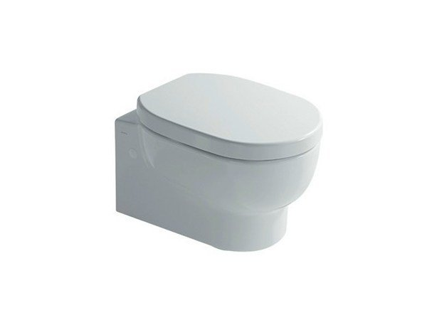 Wall-hung ceramic toilet M2 46 | Wall-hung toilet by GALASSIA