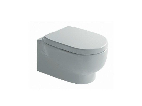 Wall-hung ceramic toilet M2 55 | Wall-hung toilet by GALASSIA