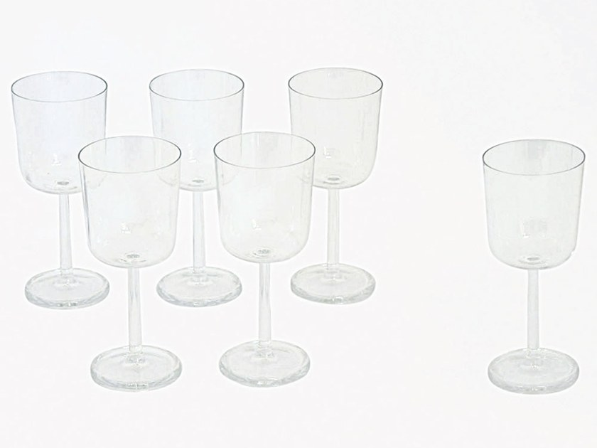 Glass wine glass M89 | Wine glass by Adriani e Rossi edizioni