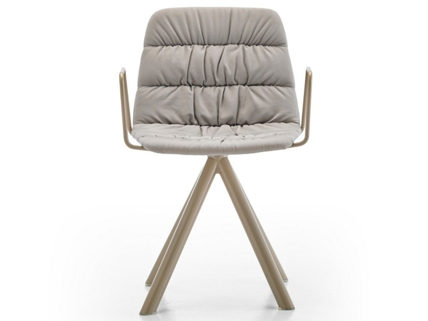 Fabric chair with armrests MAARTEN   Chair with armrests by Viccarbe