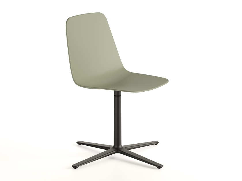 Swivel polypropylene chair with 4-spoke base MAARTEN PLASTIC | Chair with 4-spoke base by Viccarbe