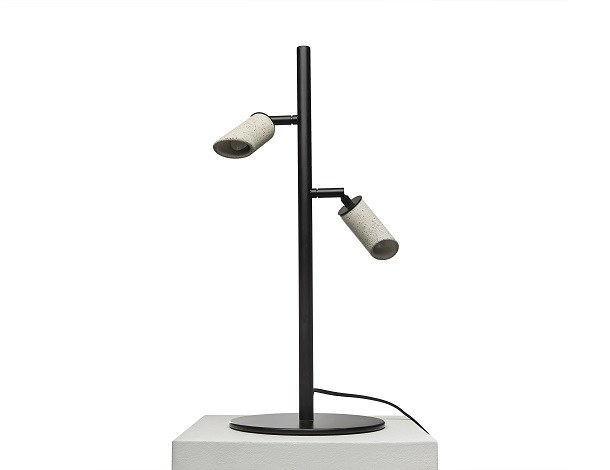 Adjustable concrete table lamp MACEO T by URBI et ORBI