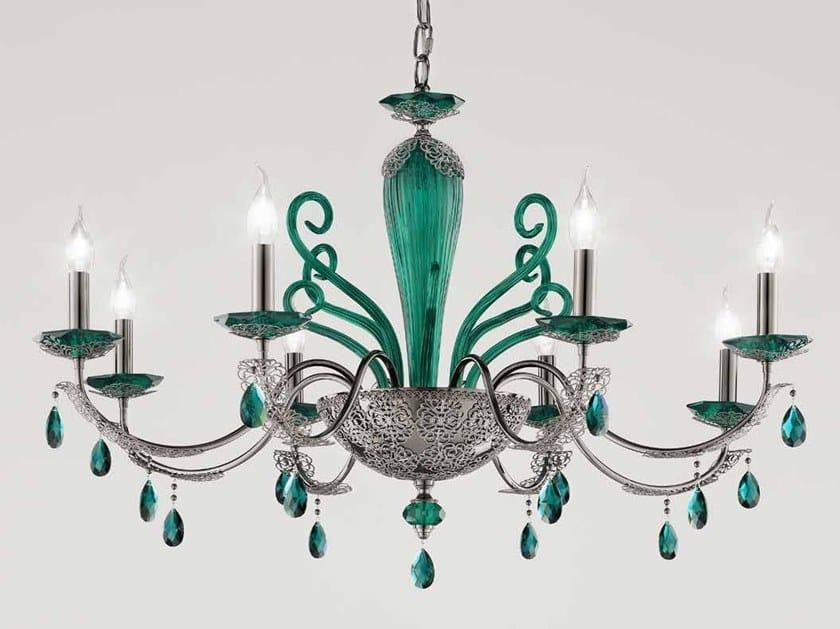 Crystal chandelier with Swarovski® Crystals MACRAMÈ L8 by Euroluce Lampadari