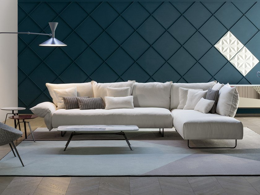 Modular fabric sofa with chaise longue MADAME C. | Sofa with chaise longue by Bonaldo