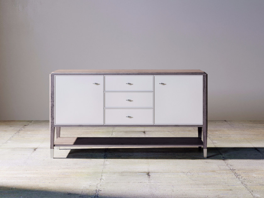 Lacquered wooden sideboard SILVER LINE | Sideboard by ITALIANELEMENTS