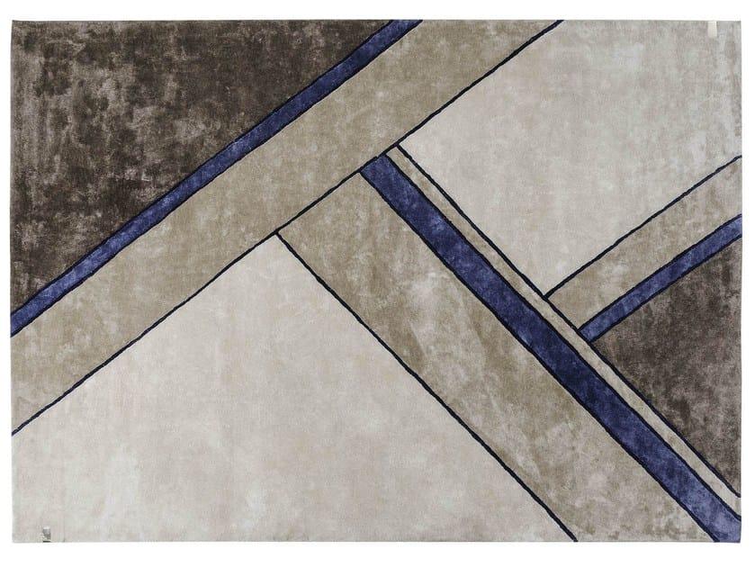 Handmade rug with geometric shapes MADISON   Rug by Turri