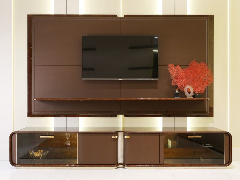 Low wooden TV cabinet MADISON | TV cabinet by Turri
