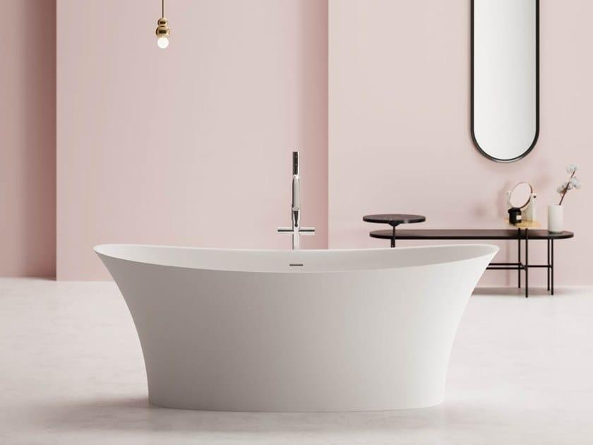 Vasca da bagno centro stanza ovale in Kstone MADRAS by Karol