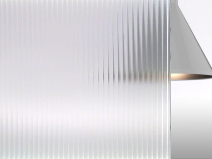 Vetro satinato con texture lineare MADRAS® PLISSÉ by Vitrealspecchi