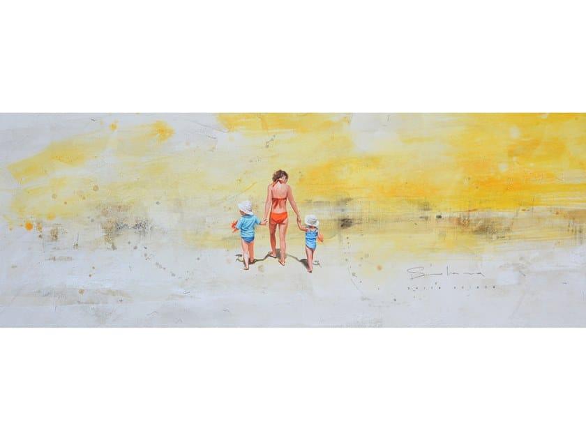 Canvas Painting Madre y niñas by NOVOCUADRO ART COMPANY
