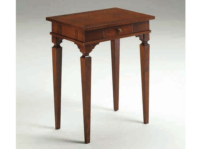 Tavolino alto rettangolare in legno massello MADRID by Arvestyle