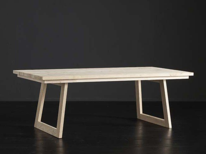 Rectangular wooden dining table MADRID + FLAT by AltaCorte