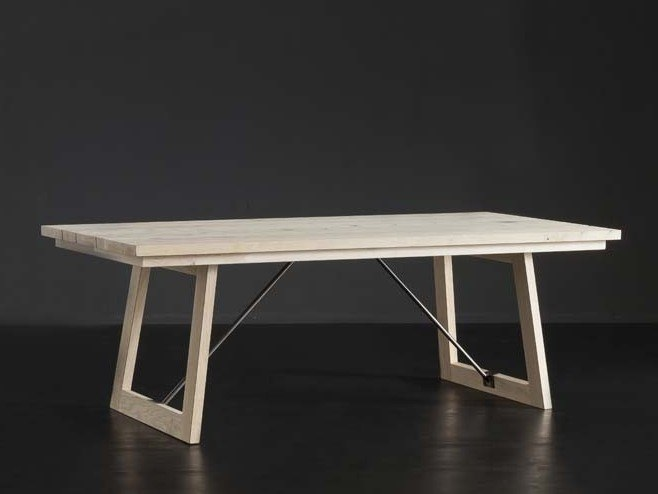 Rectangular wooden dining table MADRID + FLAT/ TIRANTI by AltaCorte