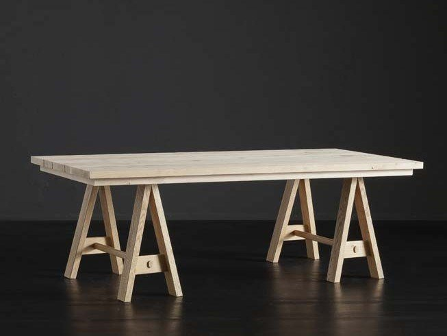 Rectangular wooden dining table MADRID + HORSE by AltaCorte