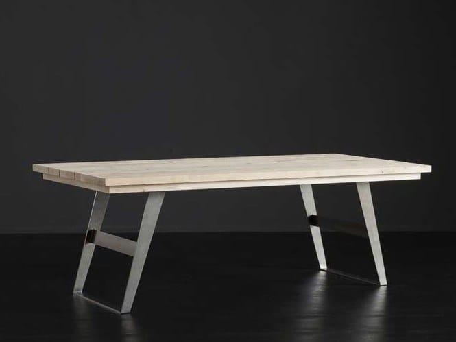 Rectangular oak dining table MADRID + IRON by AltaCorte