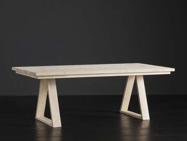 Rectangular wooden dining table MADRID + MEKANO by AltaCorte