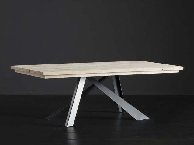 Rectangular wooden dining table MADRID + METAL by AltaCorte