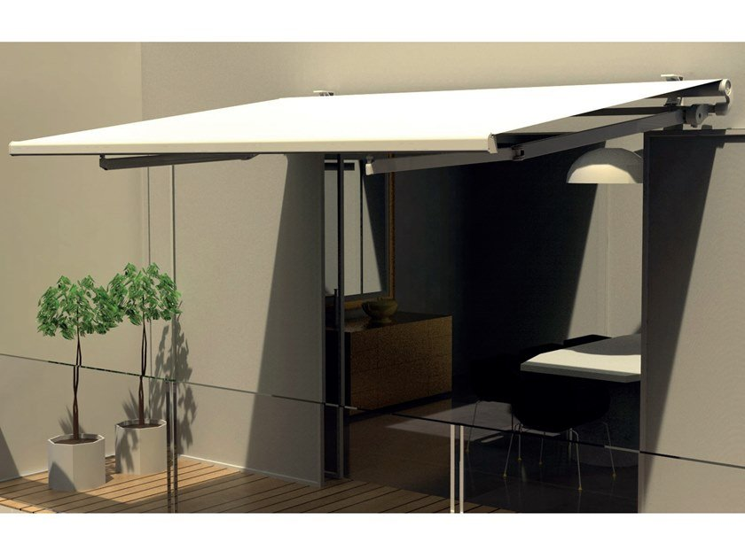 Folding arm awning without headbox MADRID by Frigerio Living
