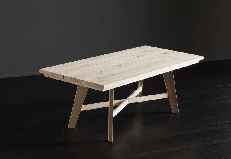 Rectangular wooden dining table MADRID + PECHINO by AltaCorte
