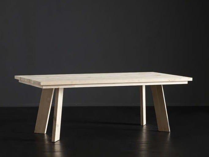 Mesa de comedor rectangular de madera MADRID + STREET Colección ...