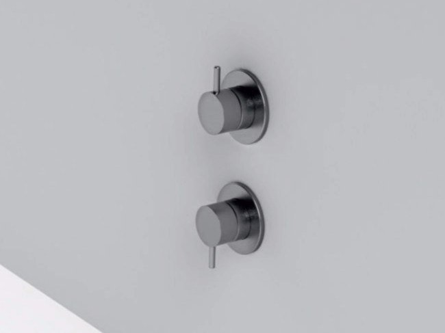2 hole stainless steel shower mixer with diverter MAE | 2 hole shower mixer by Rexa Design