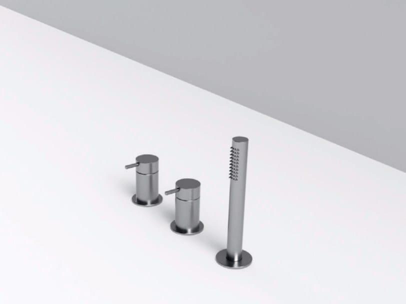 3 hole stainless steel bathtub set with diverter MAE | 3 hole bathtub set by Rexa Design