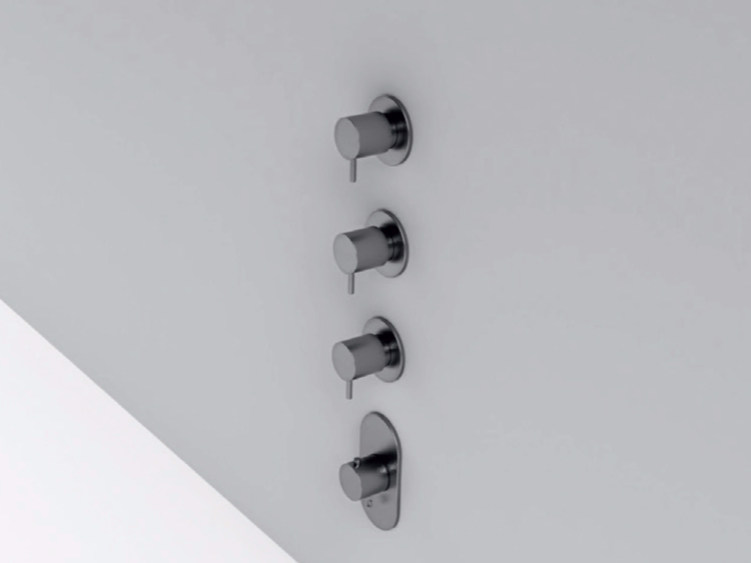 4 hole stainless steel thermostatic shower mixer MAE | 4 hole thermostatic shower mixer by Rexa Design