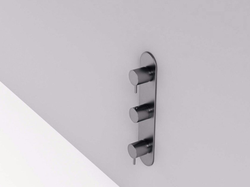3 hole stainless steel shower tap with diverter MAE | Shower tap with diverter by Rexa Design