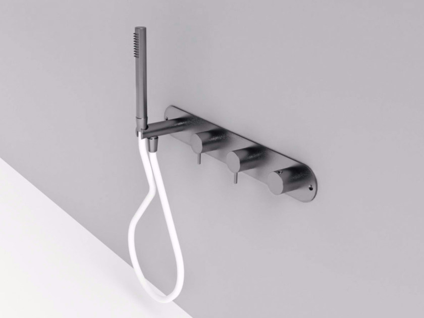 4 hole stainless steel shower tap with hand shower MAE | Shower tap with hand shower by Rexa Design