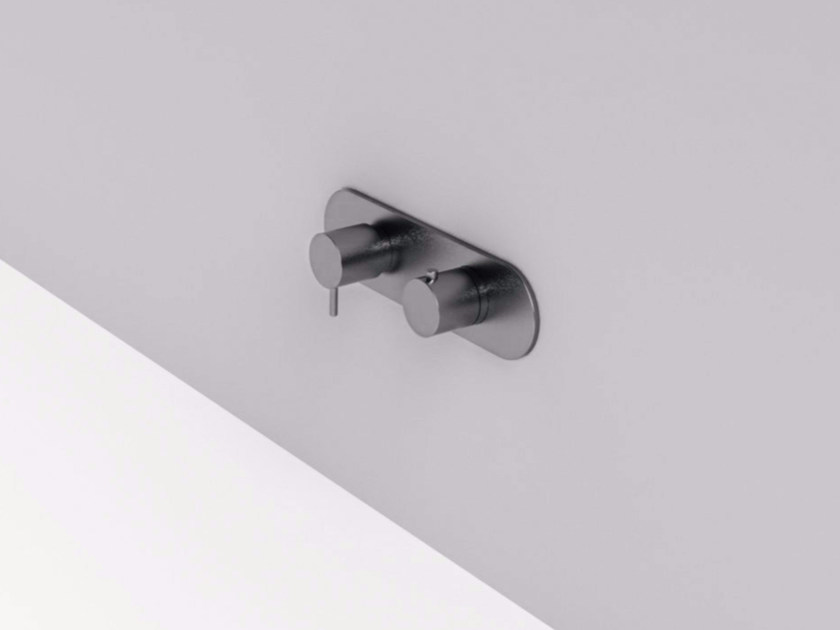 2 hole stainless steel shower tap with plate MAE | Shower tap with plate by Rexa Design