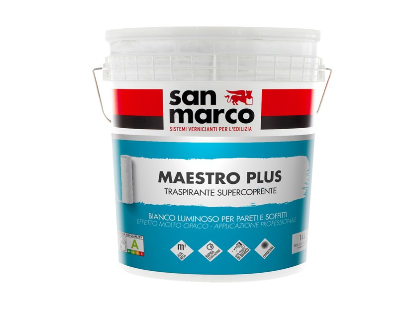 Breathable water-based paint MAESTRO PLUS by San Marco