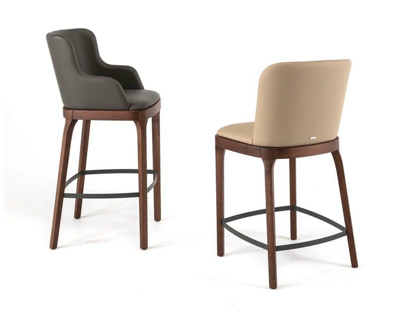 Upholstered counter stool MAGDA by Cattelan Italia