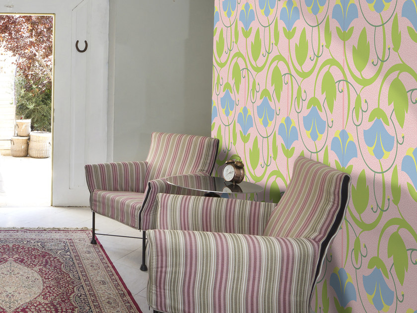 Wallpaper with floral pattern MAGGIO by Mat&Mat