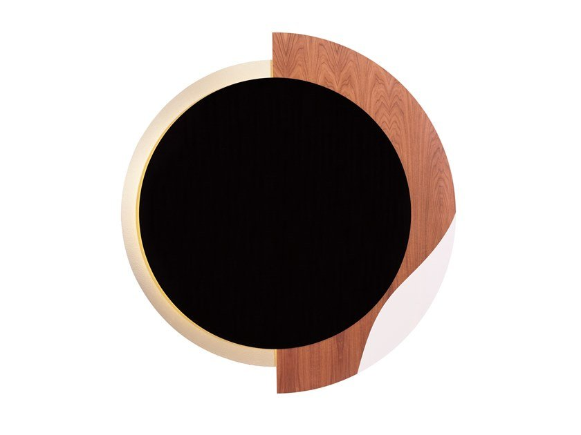 Wall-mounted wooden TV cabinet MAGIC MIRROR by Green Apple
