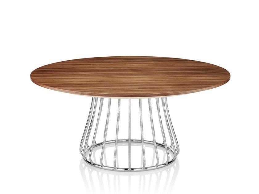 Round wooden coffee table MAGIC | Wooden coffee table by Boss Design