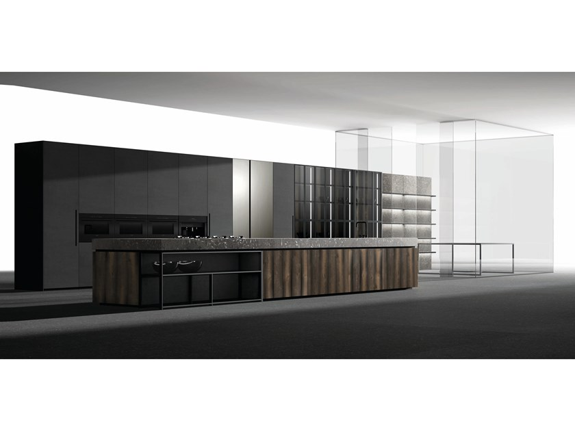Fitted kitchen with island MAGMA ATA by Doca