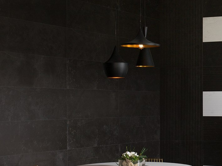 Wall tiles with marble effect MAGMA BLACK by Venis