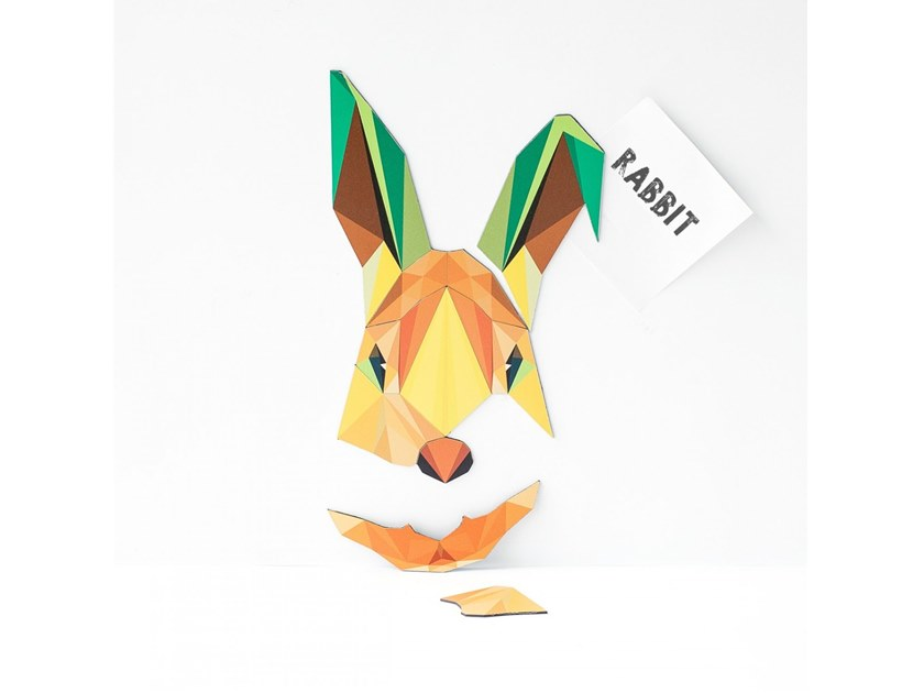 Magnet MAGNETIC PUZZLE RABBIT by Groovy Magnets