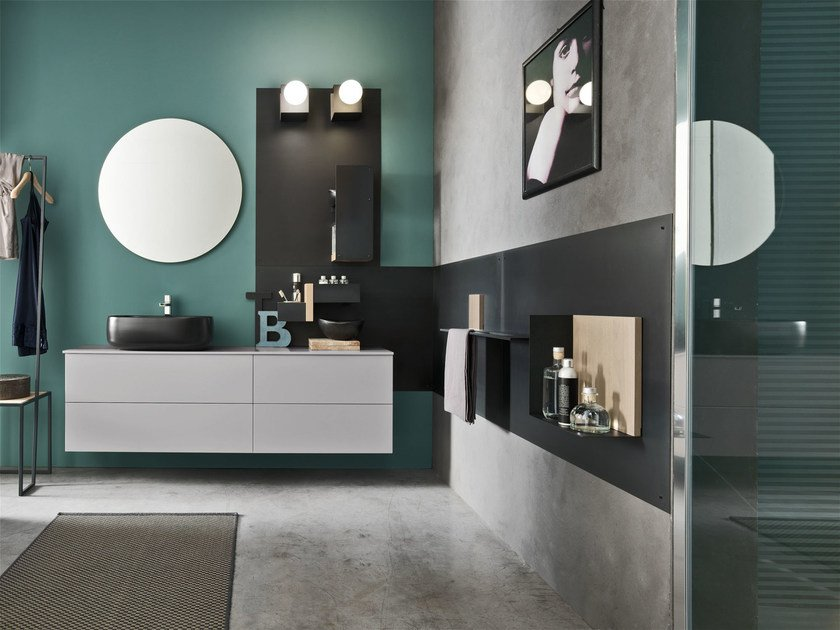 Bathroom cabinet / vanity unit MAGNETICA - COMPOSIZION 02 by Arcom