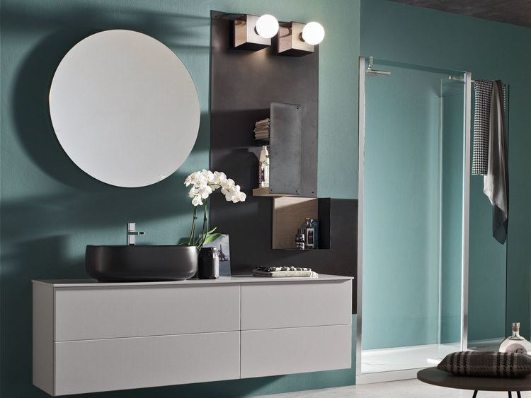 Bathroom cabinet / vanity unit MAGNETICA - COMPOSIZION 03 by Arcom