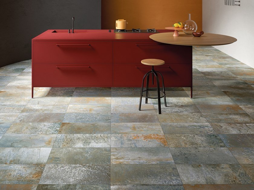 Porcelain stoneware wall/floor tiles MAGNETO RUST by GranitiFiandre